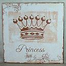 Princess Metal Sign