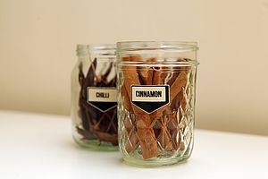 Wooden Spice Jar Stickers