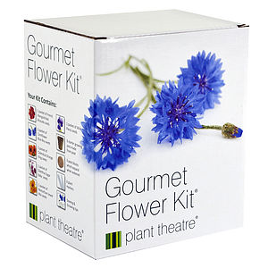 Gourmet Flower Kit   Six Edible Varieties - gifts for her