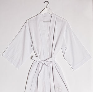 Hand Embroidered Cotton Dressing Gown - lounge & activewear