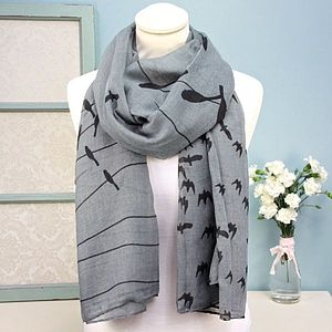 Birds On A Wire Scarf - women's accessories