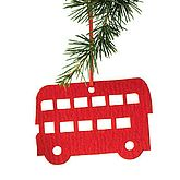 Bus Decorations, Three Pack - christmas decorations