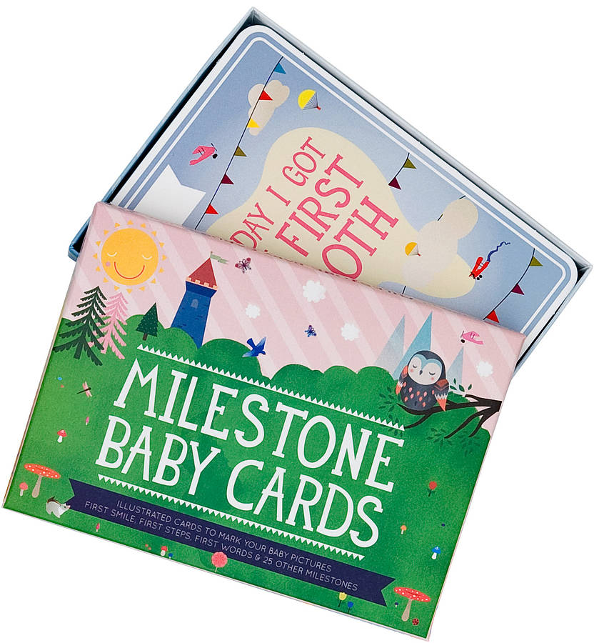 milestone baby card record set of 30 by little baby