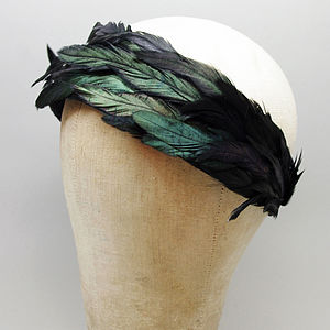 Erma Feathered Headband