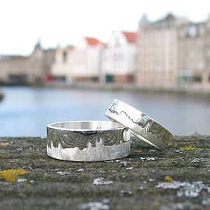 Personalised City Skyline Ring - wedding rings