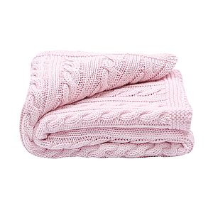 Baby Girls Cable Blanket