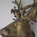 Burnished Metal Stag Head