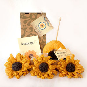 Three Sunflowers Knitting Kit - women's accessories
