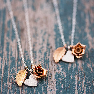 Delicate Gold And Silver Mixed Charm Necklace - necklaces & pendants