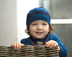 Baby Boys Striped Hat And Scarf Set