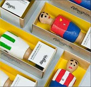 Handmade Table Footballer Fridge Magnet