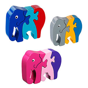 Wooden Baby Elephant Jigsaw Puzzle
