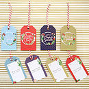 Pack Of Eight 'Berries' Christmas Gift Tags