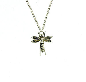 Sterling Silver Dragonflly Necklace