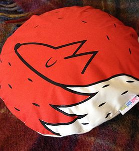 Limited Edition Screen Printed Fox Cushion - cushions