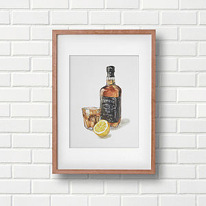 Whisky Sour Cocktail Art Print