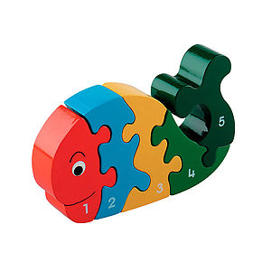 Wooden Whale Jigsaw Puzzle - toys & games