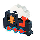 Wooden Train Jigsaw Puzzle Navy/Orange