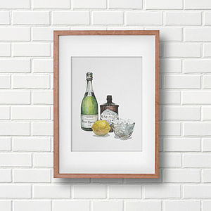 French 75 Cocktail Art Print