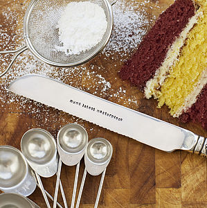 Personalised Silver Plated Cake Knife - rustic dining