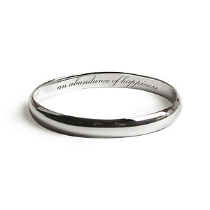 Happiness, Luck, Love Secret Message Bangles - for her
