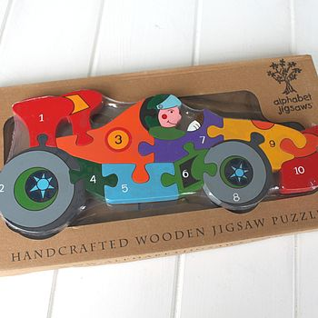 Handmade Racing Car Number Puzzle