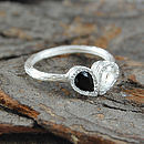 Topaz Spinel Silver Teardrop Stacking Ring