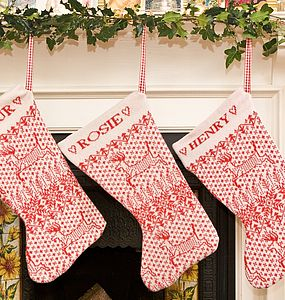 Personalised Knitted Christmas Stocking - christmas decorations