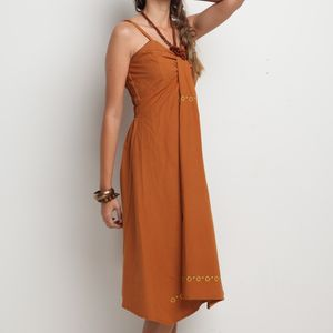 Crunched Chest Dress - women's fashion