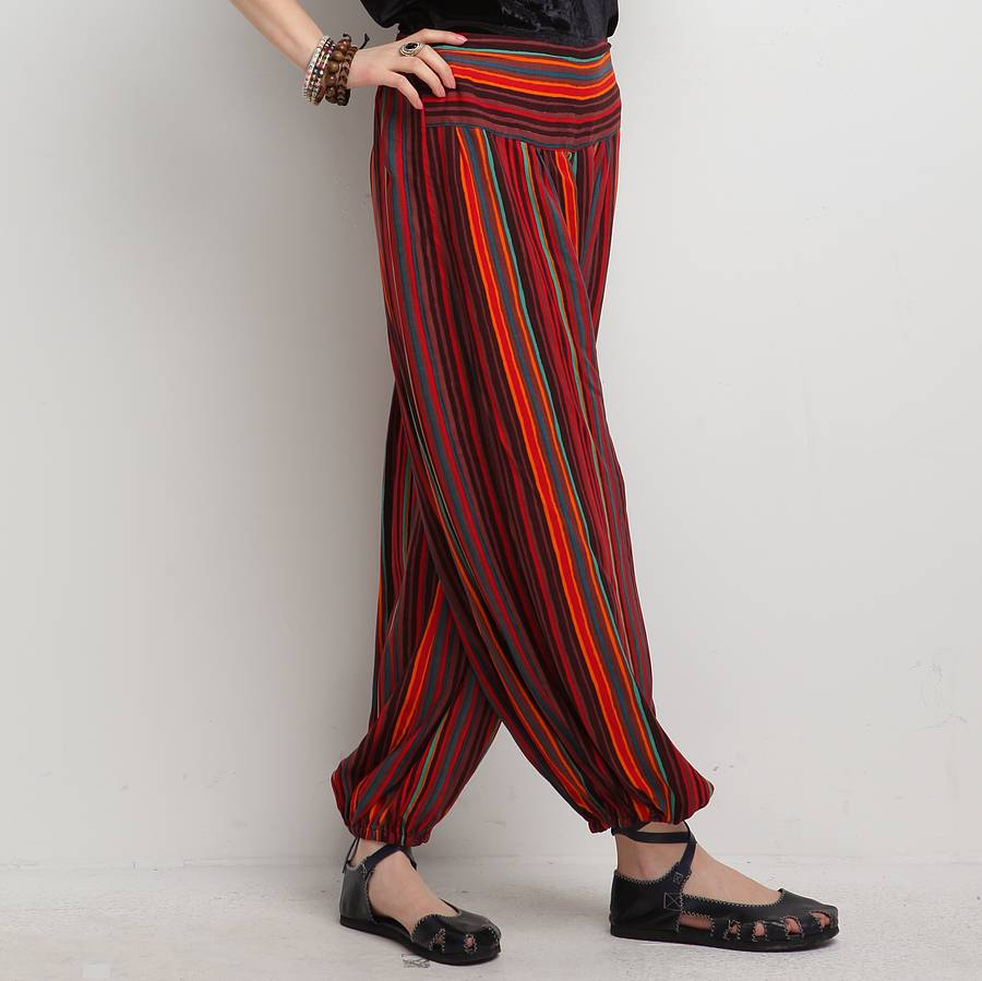 Harem Pants & Trousers You've probably seen harem pants on the catwalk recently. They're making another huge fashion splash this season, which is why celebs like Gwen Stefani and Rihanna, Halle Berry, Jennifer Lopez and Sierra Miller are being photographed .