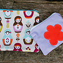 Russian Doll Print Make Up Bag Set