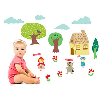 Little Red Riding Hood Wall Stickers