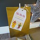 Eight Personalised Christmas Party Bags