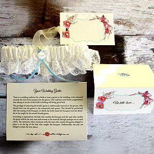 Personalised Wedding Garter - bridal lingerie