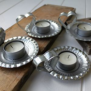 Tin Heart Tealights - lighting