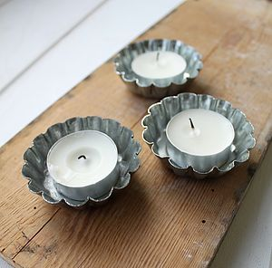 Tin Mini Jelly Mould Tealights - bedroom