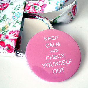 Personalised 'Keep Calm' Compact Mirror - mother's day gifts