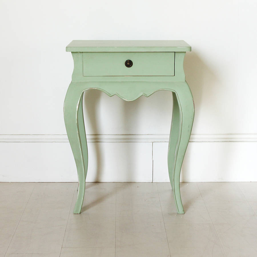 vintage green french bedside table by out there interiors tikamoon vintage teak bedside table