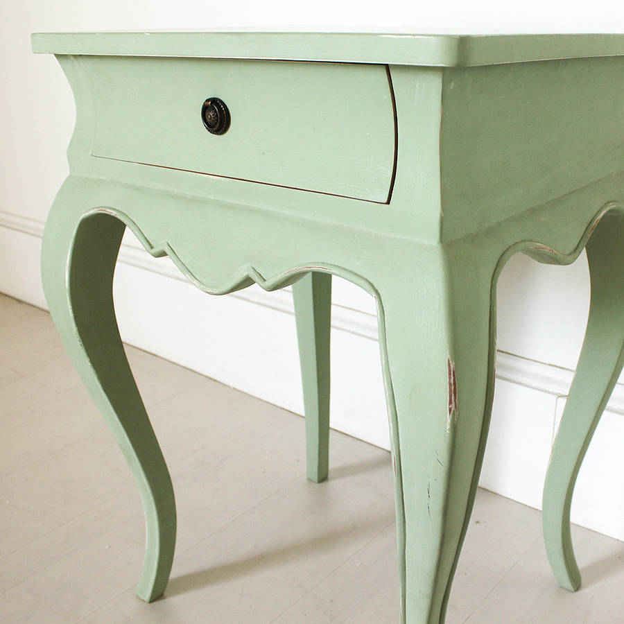 Vintage bedside table ideas - Vintage Green French Bedside Table