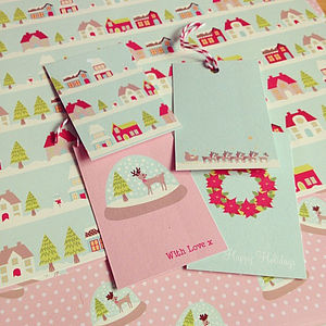 Luxury Tinseltown Christmas Gift Wrap Set