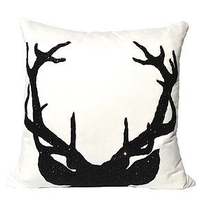Deer, Luxury Cushion - embroidered cushions