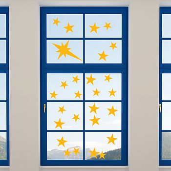 Window Cling Christmas Star Stickers
