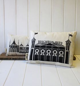 Handmade Brighton Pier Cushion