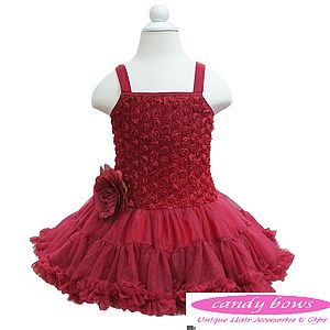 Ruby Pettidress With Rose - dresses