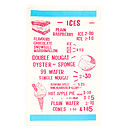 Seaside Cafe 'Delicious Ices' Tea Towel