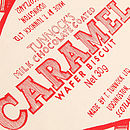 Tunnock's Caramel Wafer Wrapper Apron Close-Up