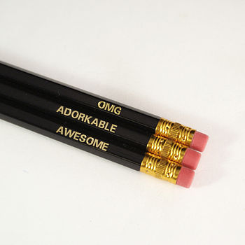 Omg, Awesome And Adorkable Pencil Set