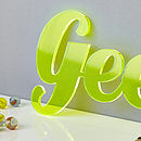 Fluorescent Acrylic Statement Sign