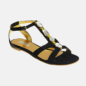 Women's Large Size Jewelled Gladiator 50% Off - shoes