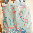 Oilcloth Shopper Bag In Sage Carousel Print
